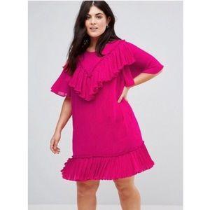ASOS Pink Ruffle Dress